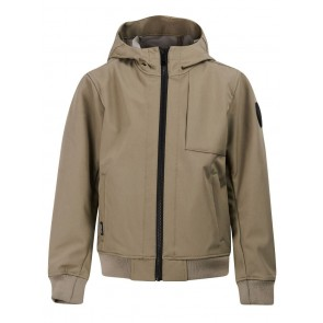 Airforce kids boys softshell jas jacket in de kleur groen/grijs
