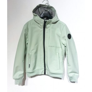 Airforce kids boys softshell jas jacket in de kleur mintgroen