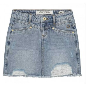 Circle of trust kids girls mimi skirt in de kleur jeansblauw