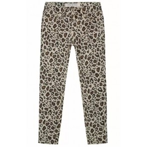 Circle of trust jeans broek girls Poppy cropped Leopard all over print