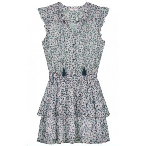 Circle of trust kids girls Gaby dress met all over print in de kleur groen