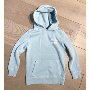 In gold we trust kids washed hoodie sweater trui in de kleur lichtblauw