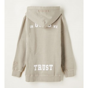 In gold we trust kids washed hoodie sweater trui in de kleur feather grey beige