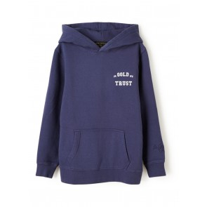 In gold we trust kids washed hoodie sweater trui in de kleur blauw