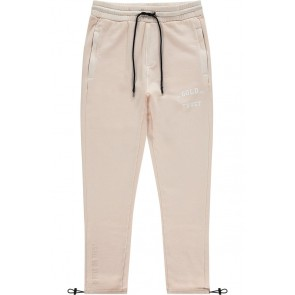 In gold we trust kids long sweat pants met white logo in de kleur feather grey zand