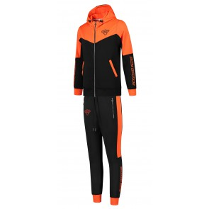 Black Bananas kids Club tracksuit trainingspak in de kleur oranje/zwart