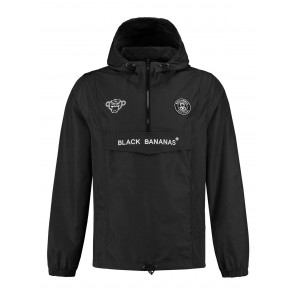 Black Bananas kids anorak windbreaker jacket jas in de kleur zwart