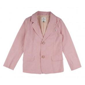 Rumbl Royal linnen look blazer van katoen in de kleur zachtroze