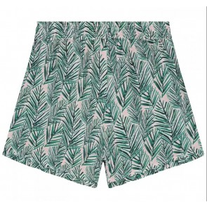 Circle of trust kids girls Ruffle short met all over leafs print in de kleur groen