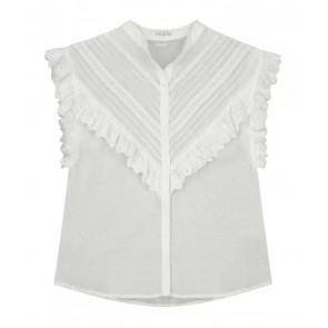 Circle of trust kids girls jenna blouse met broderie in de kleur off white
