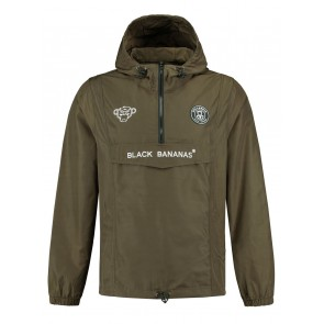 Black Bananas kids windbreaker jacket jas in de kleur army green groen