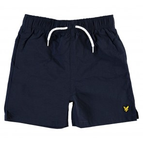 Lyle and Scott junior boys zwembroek met mini logo in de kleur donkerblauw