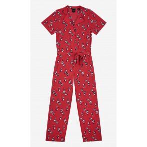 Nik en Nik flowery Effy jumpsuit in de kleur poppy red rood