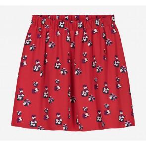 Nik en Nik Fenna flowery Cissy skirt rok in de kleur popy red rood