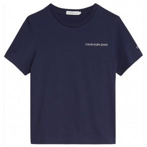 Calvin Klein jeans kids t-shirt chest logo top in de kleur donkerblauw