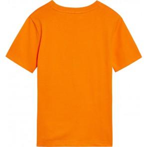Calvin Klein jeans kids monogram logo t-shirt in de kleur oranje