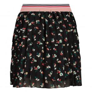 Retour jeans kids girls Madelon rok met flower print in de kleur zwart