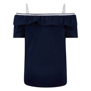 Retour jeans kids girls off shoulder top Daniella in de kleur donkerblauw