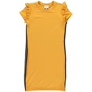 AI&KO jurk met sportieve bies in de kleur okergeel