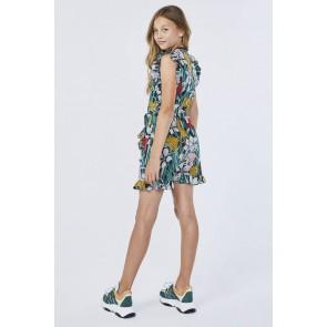 AI&KO Pams soepele jurk met jungle print in de kleur multicolor
