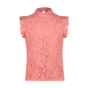 AI&KO Floria top van kant in de kleur begonia pink