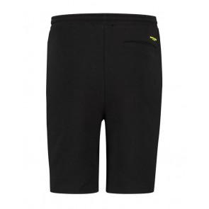 Ballin Amsterdam korte broek sweatshort met gele bies in de kleur zwart