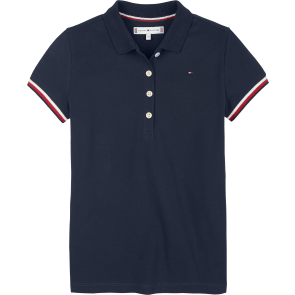 Tommy Hilfiger girls essential tommy polo shirt in de kleur donkerblauw