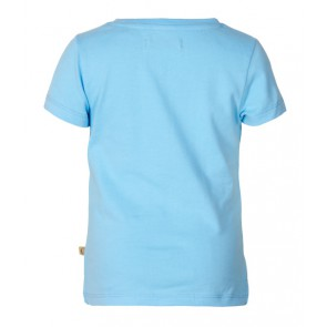 Le Big girls love t-shirt in de kleur blauw/roze