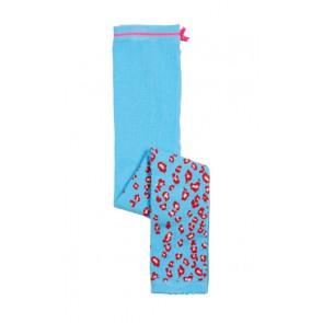 Le big fijngebreide legging met panterprint in de kleur blauw/roze