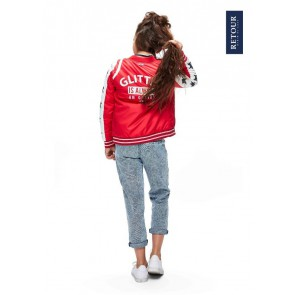 Retour jeans girls zomerjas Ellen in de kleur bright red rood