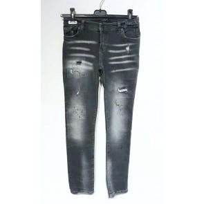 My brand junior kids jeans broek grey faded met spetters en scheuren in de kleur grijs