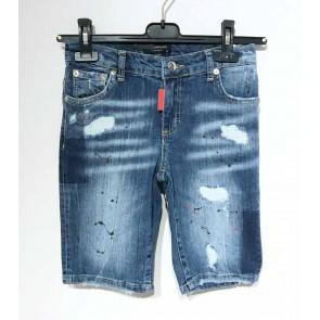 My Brand junior korte jeans broek short in de kleur blue distress jeansblauw