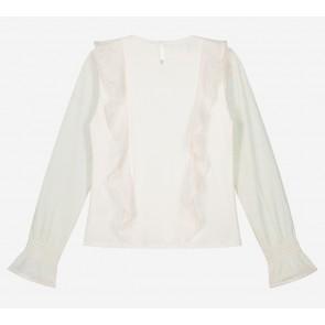 Nik en Nik Breanne top bewerkte stof in de kleur vintage off white