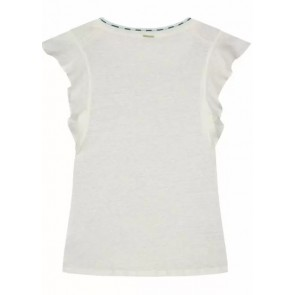 Circle of trust girls Jazmin top linnen shirt in de kleur wit