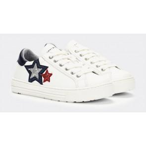 Tommy Hilfiger kids girls low cut lace up sneaker in de kleur wit