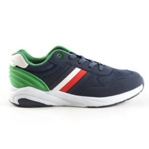 Tommy Hilfiger kids boys low cut sneaker in de kleur groen/donkerblauw