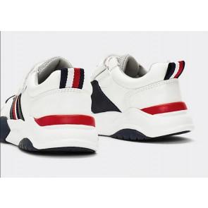 Tommy Hilfiger kids boys chunky velcro sneaker met klittenband in de kleur wit
