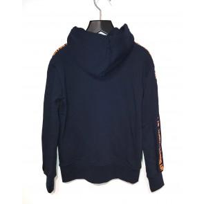 My Brand junior boys sweatvest neon 3d zipper hoodie in de kleur donkerblauw