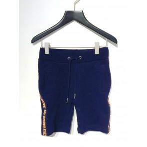 My Brand junior boys korte sweatbroek met logo bies in de kleur donkerblauw