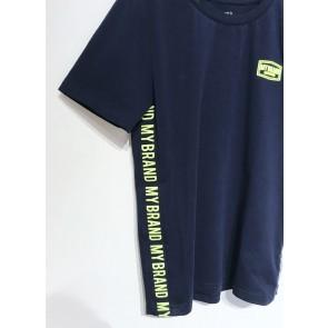 My Brand junior boys t-shirt met logo bies in de kleur donkerblauw