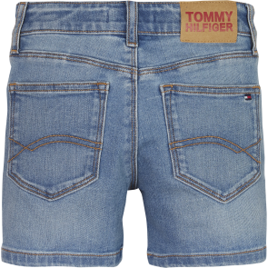 Tommy Hilfiger kids girls nora basic short jeans broekje in de kleur jeansblauw