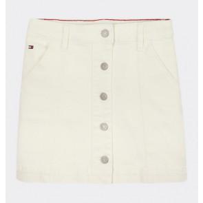 Tommy Hilfiger kids girls rok button skirt in de kleur off white