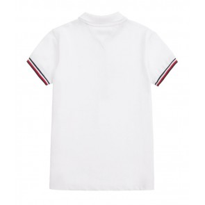 Tommy Hilfiger kids girls essential tommy polo shirt in de kleur wit