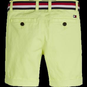 Tommy Hilfiger kids boys essential belted chino shorts korte broek in de kleur neon geel
