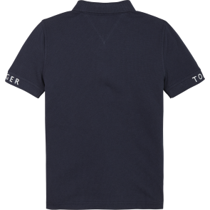 Tommy Hilfiger kids boys polo shirt in de kleur donkerblauw