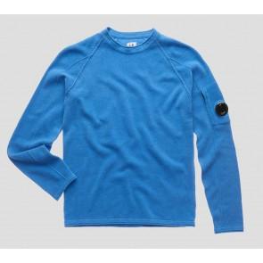 CP Company kids junior fijngebreide trui van katoen met lens in de kleur blauw
