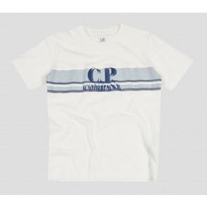 CP Company kids junior t-shirt met logo print in de kleur wit