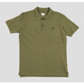 CP Company kids junior polo shirt met mini logo in de kleur army green groen