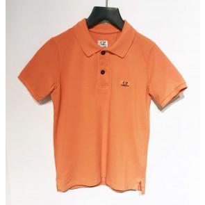 CP Company kids junior polo shirt met mini logo in de kleur oranje