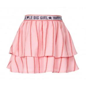 Le Big korte stroken rok in de kleur glitter tekst band in de kleur roze